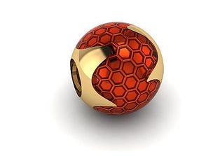 following honeycomb charm ball 3D printable model