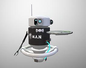 Futuristic Robot Servant 3D model