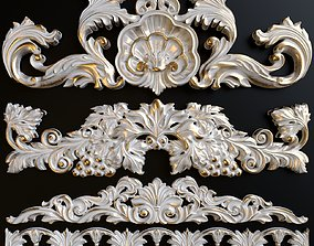 3D A set of decorative stucco
