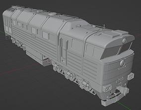 Diesel locomotive 2TE116-388 3D model