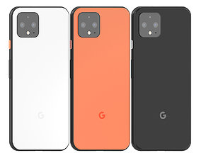 3D model Google Pixel 4 All colours