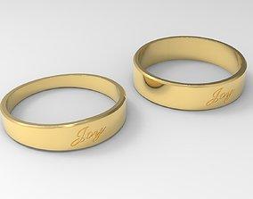 3D print model Joy Couple Ring Gold 24k Polished