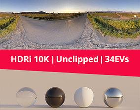 hdri 3D model HDRi - Countryside Street and Sky