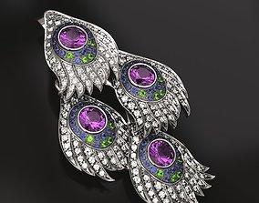 Peacock carrera earrings 3D printable model