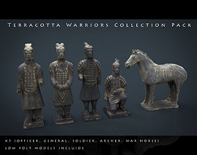 Terracotta Warriors Collection Pack 3D asset