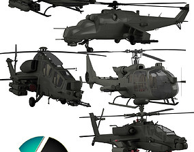 3D Military helicopter collection
