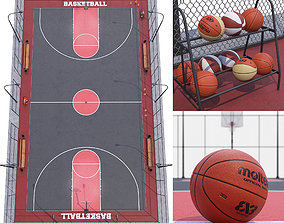 Basketball court Hq 3D