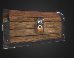 3D asset animated realtime Chest