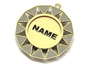 3D printable model name to be written frame necklace