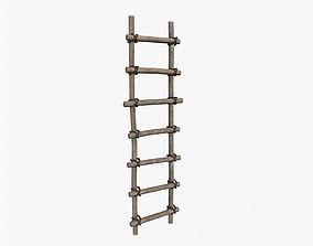 Ancient Ladder 3D asset