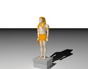 Pharaonic Man Statue 3D model