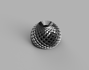 3D printable model Hemisphere with mesh and hole