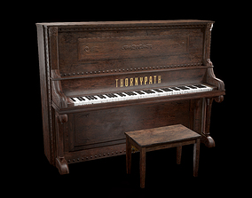 Old Piano 3D model realtime