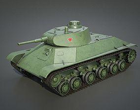 3D T-50 - Soviet light tank weapon