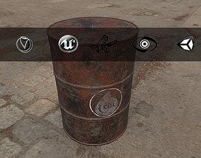 3D asset Rusty Barrel Oil Style
