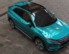 mitsubishi eclipse cross turquoise 3D model