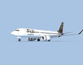 3D Boeing 737-800 Max Fiji Airways