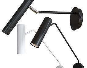 Set of wall lamps sconces Diplomat circle and 3D model