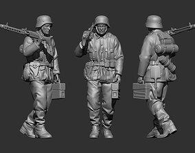3D printable model German Soldier2 WW2