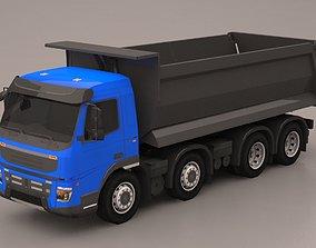 3D model low-poly Truck lowpoly