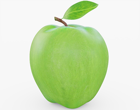 3D asset Green Apple