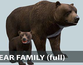 3D asset BEAR FAMILY