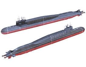 Russian Nuclear Strategic Submarine Delta IV 3D model