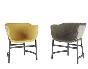 3D Fritz Hansen Minuscule Chair