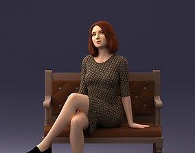 girl on a bench 0618 3D print ready