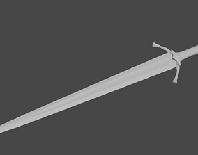 Boromir sword 3D print model