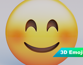 low-poly Smiling Face With Smiling Eyes 3D Emoji