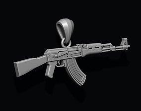 3D print model AK 74 gun pendant