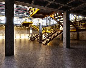 3D asset Factory Warehouse Interior