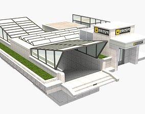 3D model The subway station of Munhwajeondang in Gwang-ju