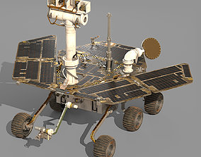 Opportunity rover 3D model rigged