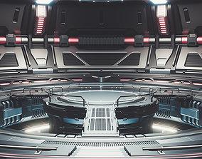 3D Sci-fi Scene for rendering Restyling - TESLA