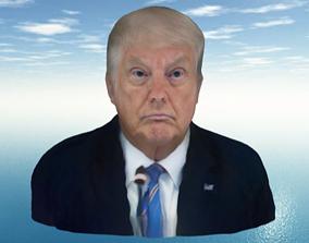 Donuld Trump 3D Face