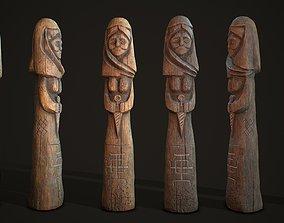 3D model Totem wood 6 pbr 4k