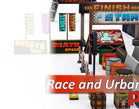 3D model Race and Urban Street Props