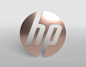 HP Logo Version1 004 3D model low-poly