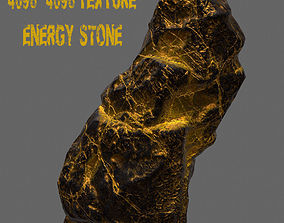 Glowing Rock 3D asset VR / AR ready