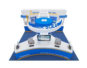 Geovision Exhibition 6x6 Booth 3D model