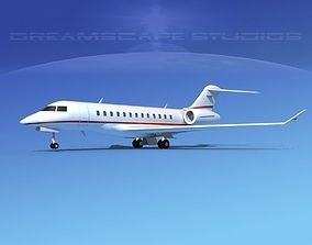 3D Bombardier Global Express 6000 V13
