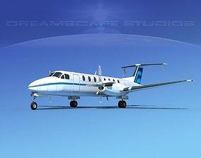 3D model Beechcraft B1900C V02