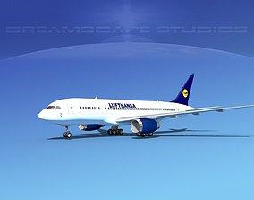 Boeing 787-8 Lufthansa 3D model