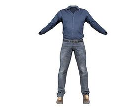 Work Suit 3D asset