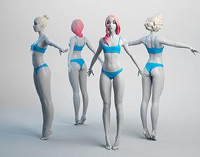 3D model Female Basemesh 03