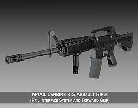 Colt M4A1 Carbine RIS Assault rifle 3D