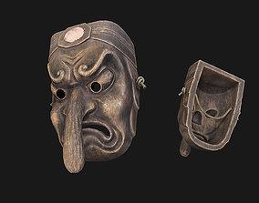Tengu mask 3D asset