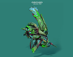 Orchid Drone V0 - PBR - ANIMATED 3D asset realtime